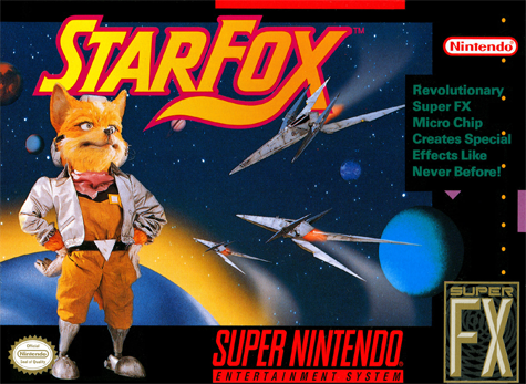 Star Fox Nintendo Super NES cover artwork