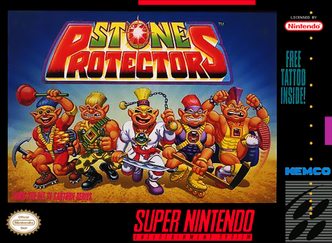 Stone Protectors Nintendo Super NES cover artwork