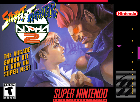 Street Fighter Alpha 2 Nintendo Super NES cover artwork
