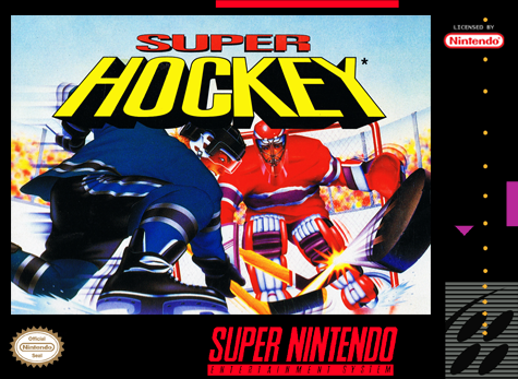 Super Ice Hockey Nintendo Super NES cover artwork