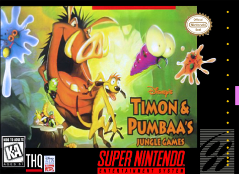 Timon & Pumbaa's Jungle Games Nintendo Super NES cover artwork