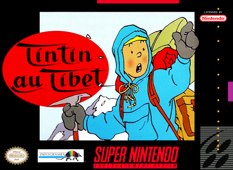 Tintin in Tibet Nintendo Super NES cover artwork