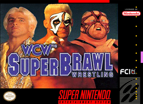 WCW Super Brawl Wrestling Nintendo Super NES cover artwork