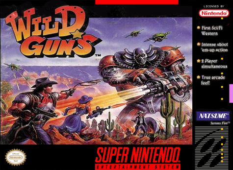 Wild Guns Nintendo Super NES cover artwork