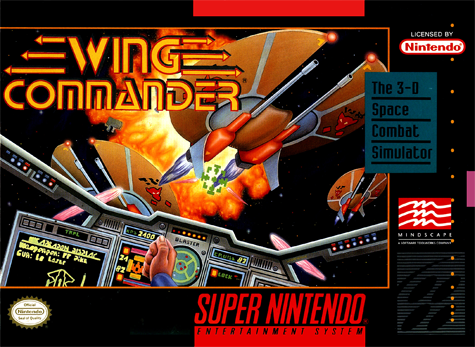Wing Commander Nintendo Super NES cover artwork