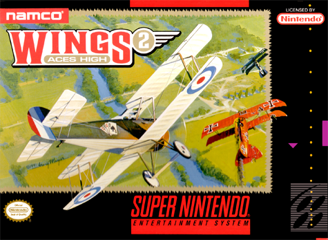 Wings 2 - Aces High Nintendo Super NES cover artwork