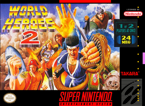 World Heroes 2 Nintendo Super NES cover artwork