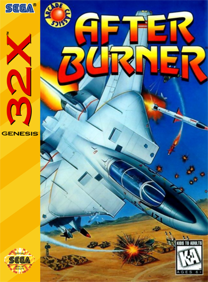 After Burner Complete ~ After Burner Sega 32X cover artwork