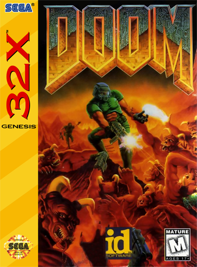 Doom Sega 32X cover artwork
