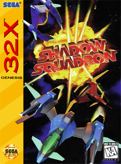 Shadow Squadron Sega 32X cover artwork
