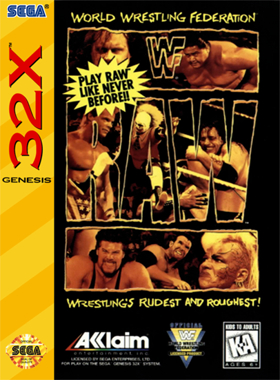 WWF Raw Sega 32X cover artwork