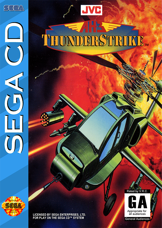 AH-3 Thunderstrike Sega CD cover artwork