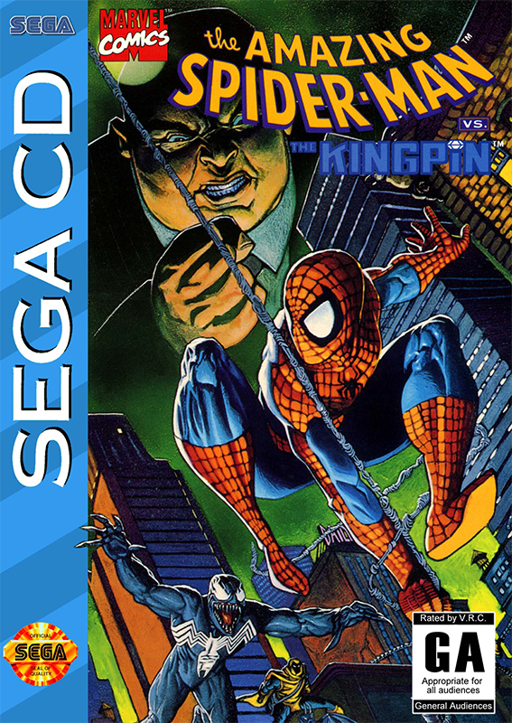 Amazing Spider-Man, The vs. The Kingpin Sega CD cover artwork