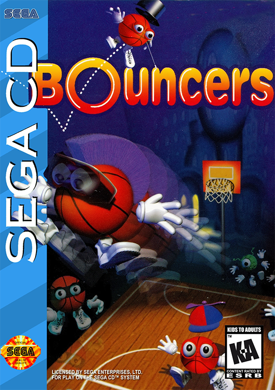 Bouncers Sega CD cover artwork