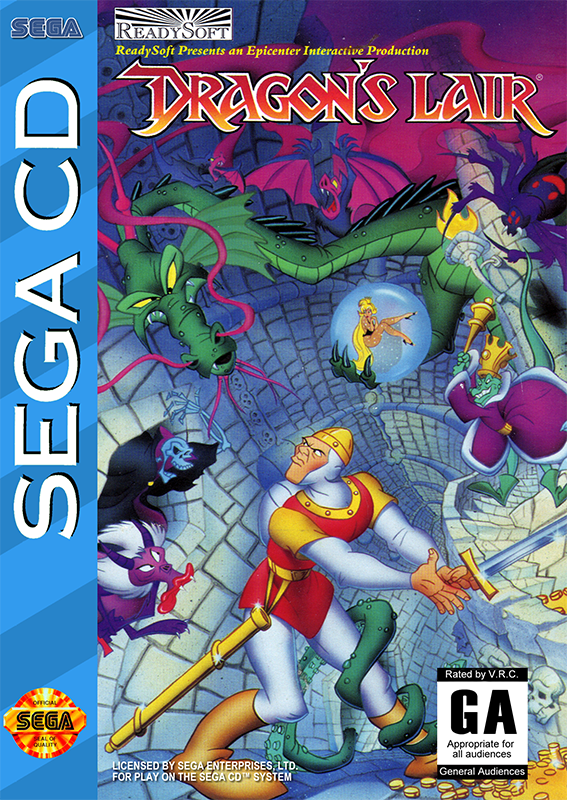 Dragon's Lair Sega CD cover artwork