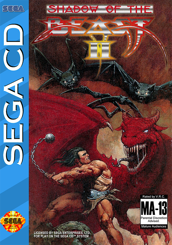 Shadow of the Beast II Sega CD cover artwork