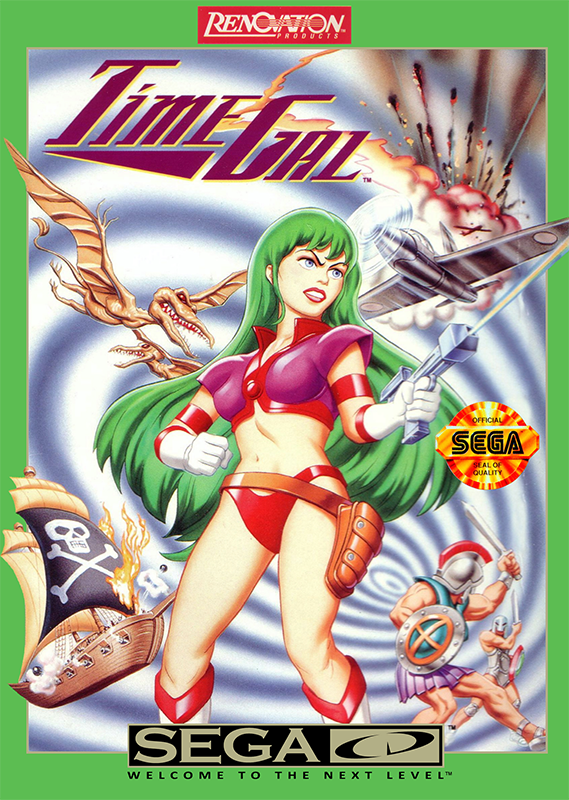 Time Gal Sega CD cover artwork