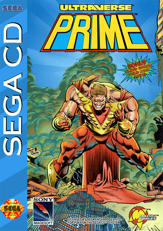 Ultraverse Prime Sega CD cover artwork