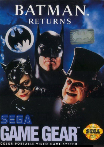 Batman Returns Sega Game Gear cover artwork