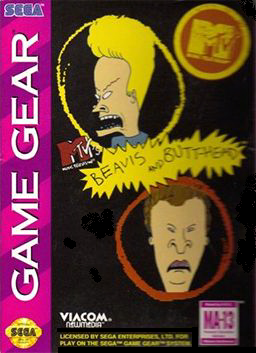 Beavis and Butt-head Sega Game Gear cover artwork