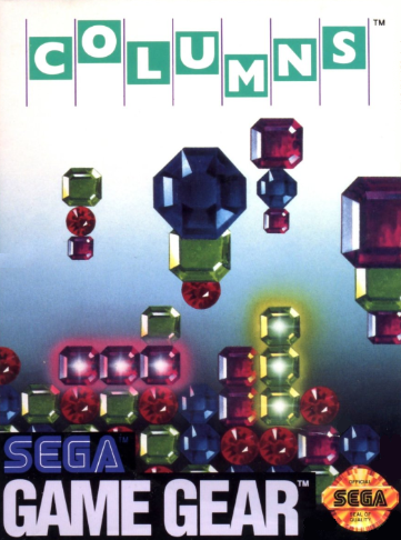 Columns Sega Game Gear cover artwork