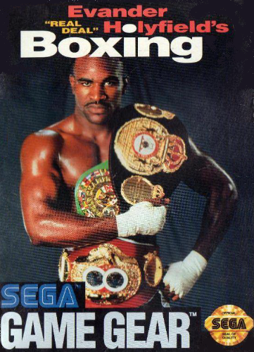 Evander Holyfield Boxing Sega Game Gear cover artwork