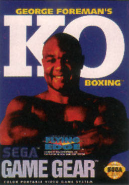 George Foreman's KO Boxing Sega Game Gear cover artwork