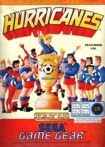 Hurricanes Sega Game Gear cover artwork