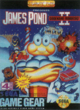 James Pond II - Codename RoboCod Sega Game Gear cover artwork