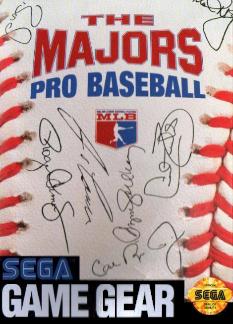 Majors Pro Baseball, The Sega Game Gear cover artwork