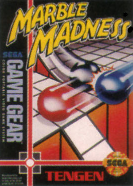 Marble Madness Sega Game Gear cover artwork