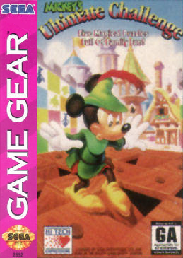 Mickey's Ultimate Challenge Sega Game Gear cover artwork
