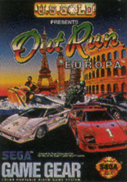 Out Run Europa Sega Game Gear cover artwork