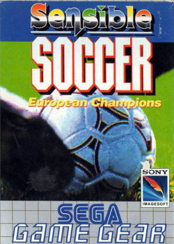 Sensible Soccer Sega Game Gear cover artwork