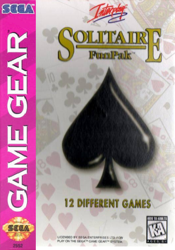 Solitaire Funpak Sega Game Gear cover artwork