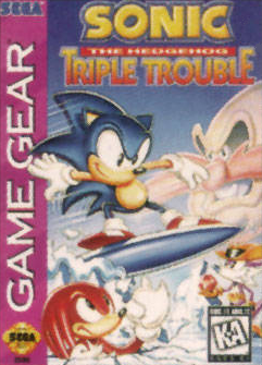Sonic The Hedgehog - Triple Trouble Sega Game Gear cover artwork