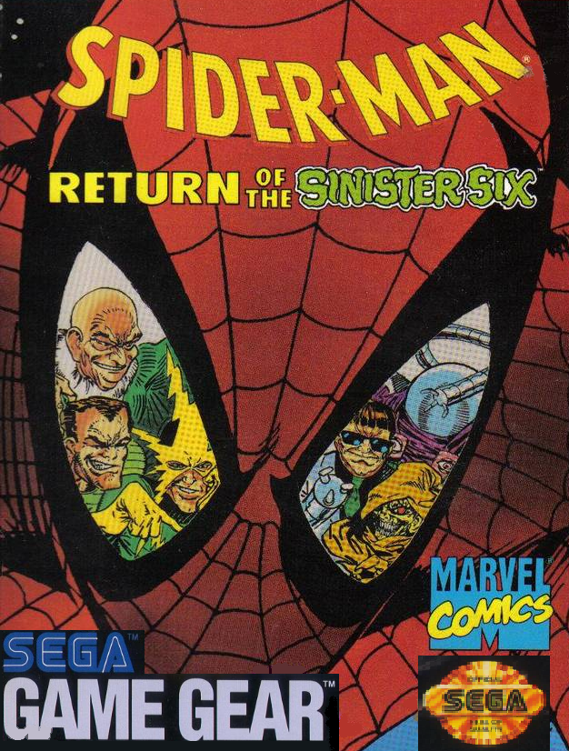 Spider-Man - Return of the Sinister Six Sega Game Gear cover artwork