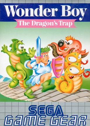 Wonder Boy - The Dragon's Trap Sega Game Gear cover artwork