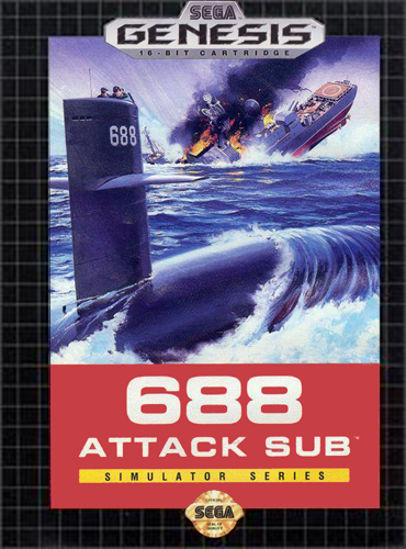688 Attack Sub Sega Genesis cover artwork