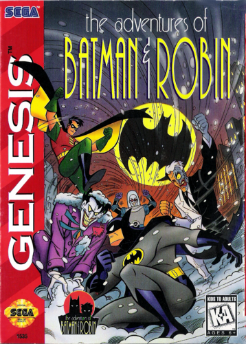 Adventures of Batman & Robin, The Sega Genesis cover artwork