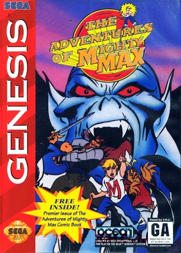 Adventures of Mighty Max, The Sega Genesis cover artwork