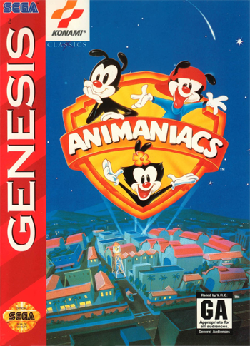 Animaniacs Sega Genesis cover artwork
