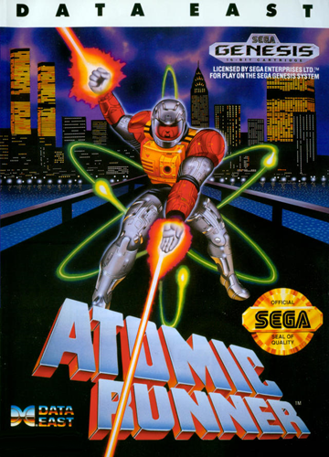 Atomic Runner Sega Genesis cover artwork