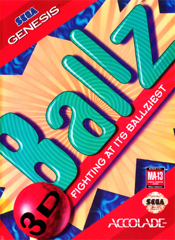 Ballz 3D - The Battle of the Ballz Sega Genesis cover artwork