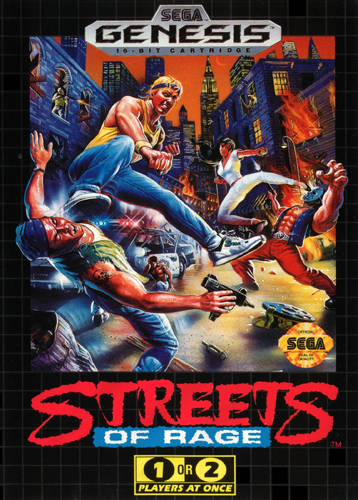 Streets of Rage Sega Genesis cover artwork