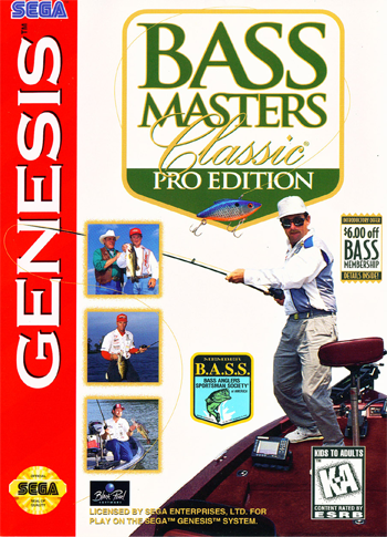 Bass Masters Classic - Pro Edition Sega Genesis cover artwork