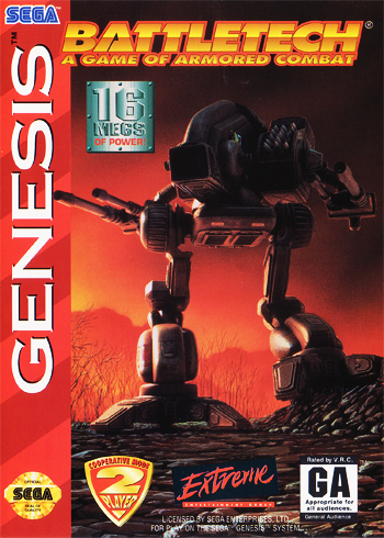BattleTech - A Game of Armored Combat Sega Genesis cover artwork