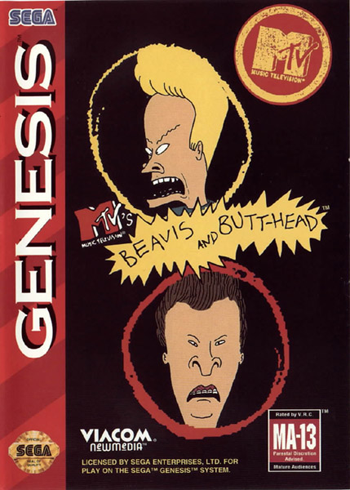 Beavis and Butt-Head Sega Genesis cover artwork