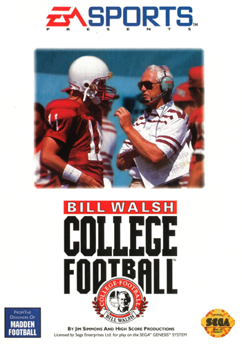 Bill Walsh College Football Sega Genesis cover artwork