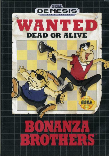 Bonanza Bros. Sega Genesis cover artwork